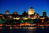 Quebec City at night — Foto Stock