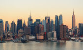 New York City sunset — Stock Photo