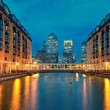 London Canary Wharf nachts — Stockfoto #49415345