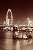 Thames River night view — Stock Photo