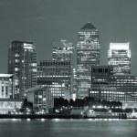 London Canary Wharf at night — Stock Photo #49421165