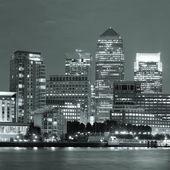 London Canary Wharf at night — Stock Photo