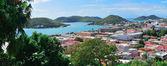St. thomas-hafen-panorama — Stockfoto