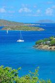バージン諸島のボート — ストック写真