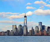 Downtown Manhattan skyline — Stock Photo