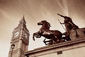 Queen Bodica statue in London — Stockfoto