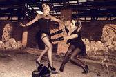 Queen of burlesque. — Stock Photo