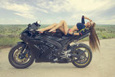 Moto Girls — Stock Photo