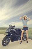 Moto Girls — Stock Photo