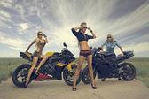 Moto Girls — Zdjęcie stockowe