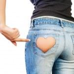 Girl in jeans — Stock Photo #7666634
