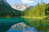 Green lake (Grüner see) in Bruck an der Mur, Austria — Stock Photo
