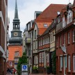 Постер, плакат: The Old Town and the Church of St Cosmas and Damian in Stade Germany