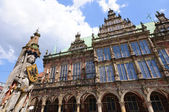 Roland and Historic town hall of Bremen, Germany — Stock Photo