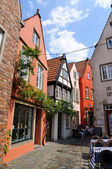 Schnoor district in Bremen, Germany — Stock Photo