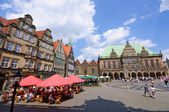 Historic town hall and old town of Bremen, Germany — Stok fotoğraf