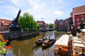 The old port of Lüneburg — Stock Photo