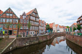 The Old Town and the Old Port of Stade, Germany — Stock Photo