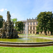 Schlossgarten in the Summer in Erlangen, Germany — Stockfoto