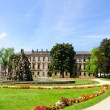 Schlossgarten in the Summer in Erlangen, Germany — Foto Stock