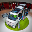 Stock Photo: TOKYO, JAPAN - November 23, 2013: Booth at Daihatsu Motor