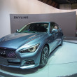 Stock Photo: TOKYO, JAPAN - November 23, 2013: New Skyline (Infiniti Q50) at Booth of NissMotor