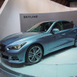 Постер, плакат: TOKYO JAPAN November 23 2013: New Skyline Infiniti Q50 at the Booth of Nissan Motor