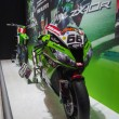 Stock Photo: TOKYO, JAPAN - November 23, 2013: Booth at Kawasaki Motorcycles
