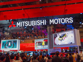 TOKYO, JAPAN - November 23, 2013: Booth at Mitsubishi Motors — Stock Photo