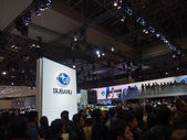 TOKYO, JAPAN - November 23, 2013: Booth at Subaru — Stock Photo