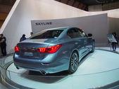 TOKYO, JAPAN - November 23, 2013: New Skyline (Infiniti Q50) at the Booth of Nissan Motor — Stock Photo