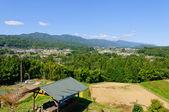 Landscape of Achi village in Southern Nagano, Japan — Stock Photo