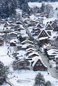 Historic Village of Shirakawa-go in winter — Stock Photo