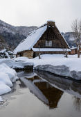 Historická vesnice shirakawa-go v zimě — Stock fotografie