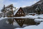 Historic Village of Shirakawa-go in winter — Stock Photo
