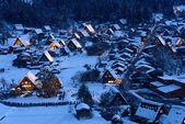 冬の白川郷の歴史的な村 — ストック写真