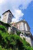 Catholic Church of Hallstatt in Austria — Stock Photo