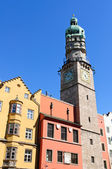 The Stadtturm and Cityscape of Innsbruck in Austria — Stock Photo