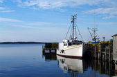 Fishing Boat at Dock — Stock Photo