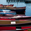 Canoes for hire at Dows Lake in Ottawa — Stock Photo