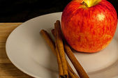 Cinnamon and Apple — Stock Photo