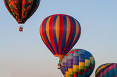 Four balloons in flight — Stock Photo