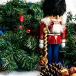 Foto Stock: Nutcracker and Greenery