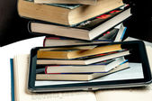 Books and a Tablet — Foto Stock