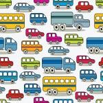 Cartoon cars seamless pattern. — Stock Vector