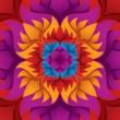 Colorful flower kaleidoscope background. - Stock Vector