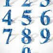 Vector numbers set. — Vettoriale Stock #12768485