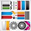 Set of web design elements. — Stock Vector