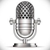 Retro mikrofon. — Stok Vektör