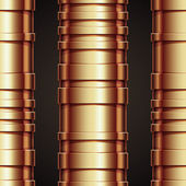 Copper pipeline seamless pattern. — Stock Vector